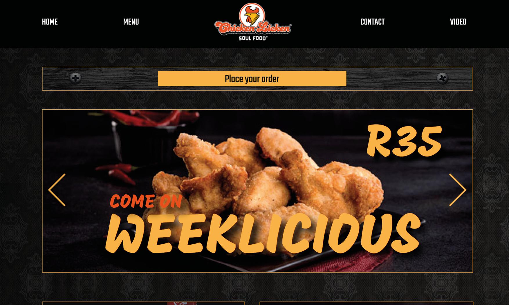 Chicken licken menu